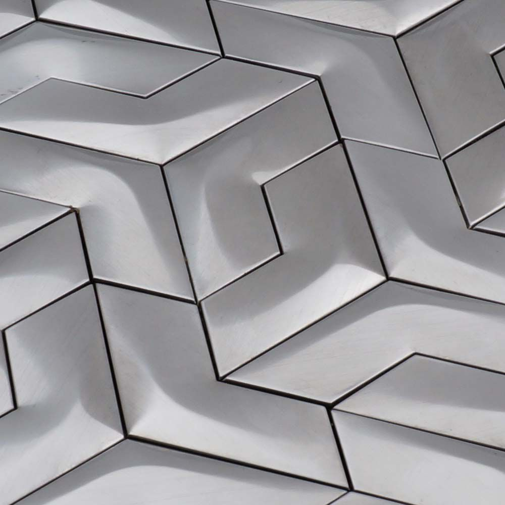 - 3D Stainless Steel Mosaic Tile Special Silver