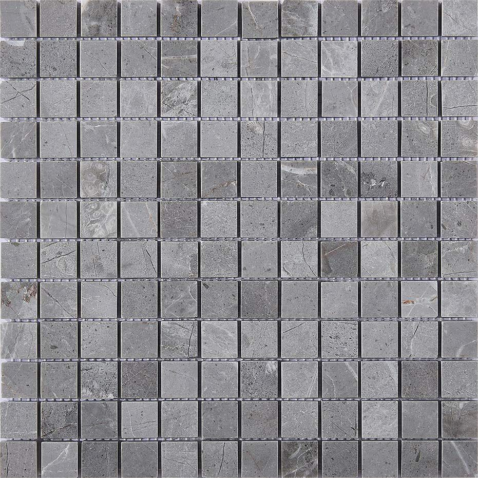 Marble Stone Mosaic Tile Square Grey Honed