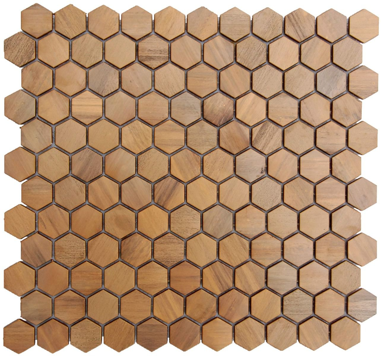 Bronze Copper Mosaic Tile Hexagon