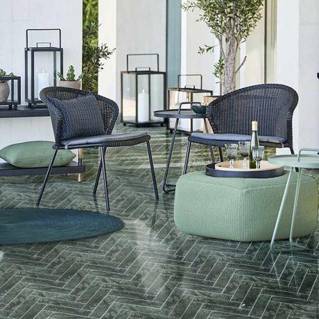 Herringbone Marble Mosaic Tile Bigger Size Indian Green Polished Or Matt