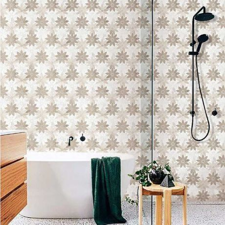 Flower Grey and White Marble Stone Bath Wall and Floor Mosaic Tile Kitchen Backsplash Multi-Shape