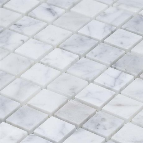 Carrara White Marble Mosaic Tile Square Tile Natural Stone 25x25mm