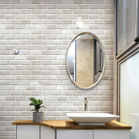 Grey Marble Stone Bath Wall and Floor Mosaic Tile Kitchen Backsplash Rectangle