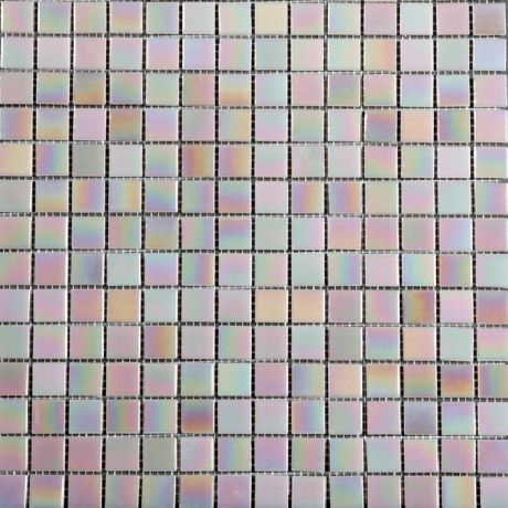 Glass Mosaic Tile Square Fantasy  Pink