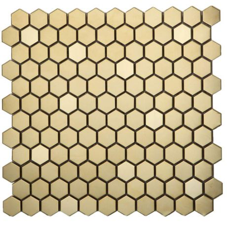 Rose Golden Stainless Steel Mosaic Tile Hexagon