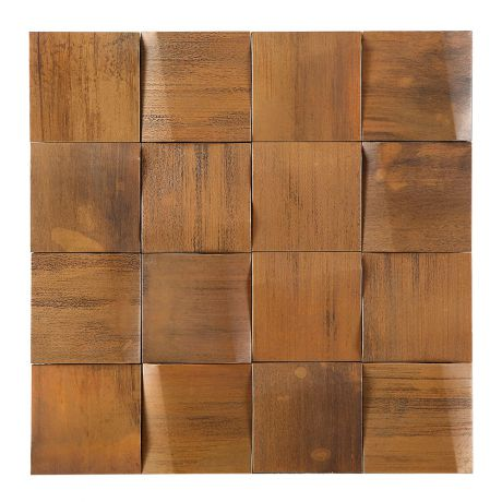 3D Copper Feature Wall Fireplace Decor Square Mosaic Tile