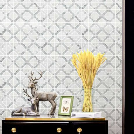 Specialty Crystal Carrara White Marble Stone Bath Wall and Floor Mosaic Tile Kitchen Backsplash
