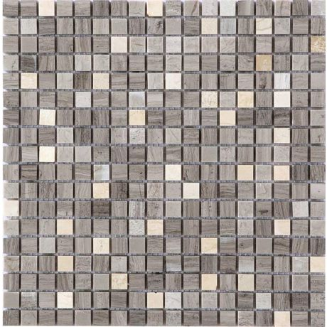 Honed Marble Mosaic Tile Natural Stone Square Gray 15x15mm