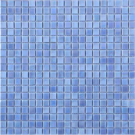 Glass Mosaic Tile Square Dazzling Blue 15x15mm