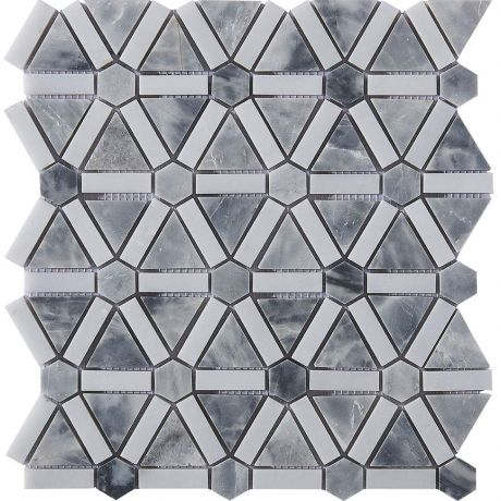 Marble Mosaic Tile Black White Grey Multi-Shape Honed
