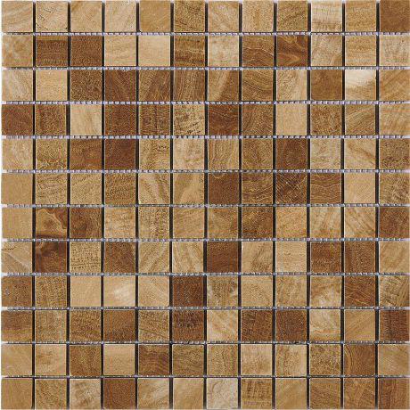 Marble Mosaic Tile Square Golden Bronze Honed