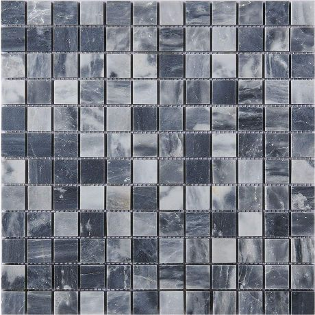 Marble Stone Mosaic Tile Square Black Grey Honed
