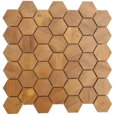 Copper Backsplash Mosaic Tile Feature Wall Fireplace Decor Big Hexagon