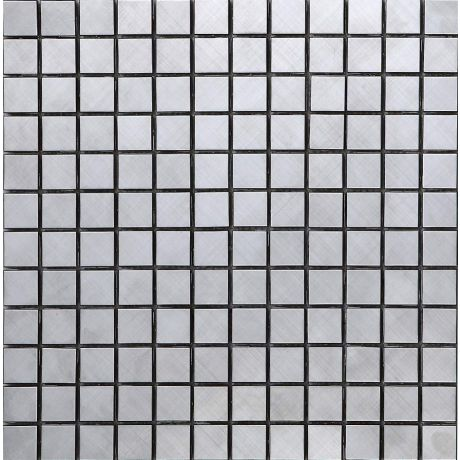 Silver Stainless Steel Mosaic Tile Square Cross pattern