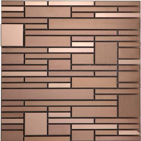 Stainless Steel Mosaic Tile Special Rose Golden