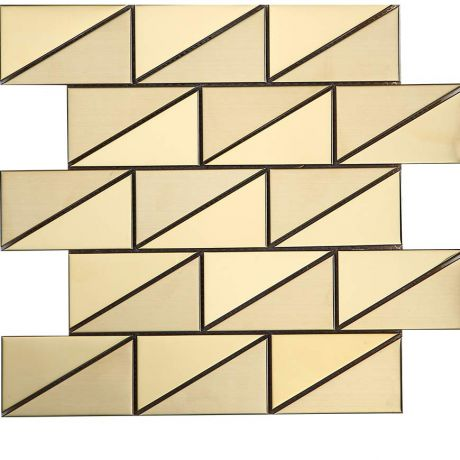 Stainless Steel Mosaic Tile Triangle Golden