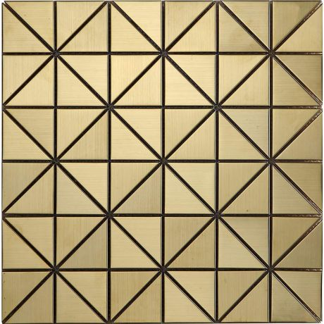 Golden Triangle Stainless Steel Mosaic Tile