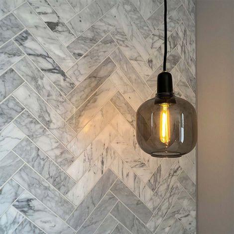Large Herringbone Marble Mosaic Tile Carrara White Luxury Decorative Backsplash Tiles Polished Or Matt