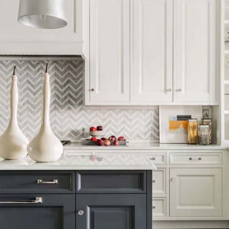 Chevron Carrara White Marble Stone Mosaic Tile Bath Wall and Floor Kitchen Backsplash