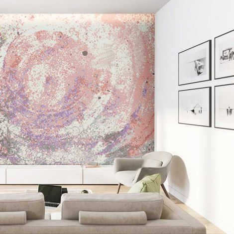 Pink Nebula Glass Mosaic Art Feature Wall 0.1Sq.M(1.07Sq.Ft)