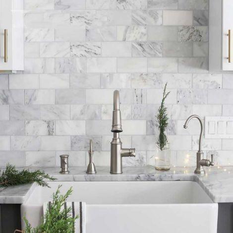 Subway Tile Marble Mosaic Brick Tile Kitchen Backsplash Bathroom Wall Tiles Floor Tiles Carrara White
