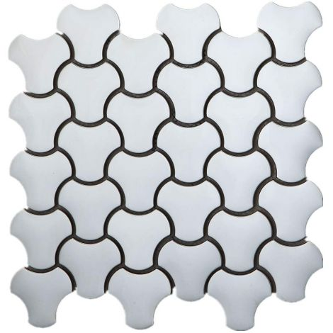 3D Stainless Steel Mosaic Tile Silver Specialty