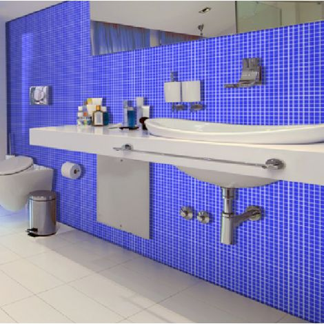 Blue Crystal Glass Mosaic Tile Square