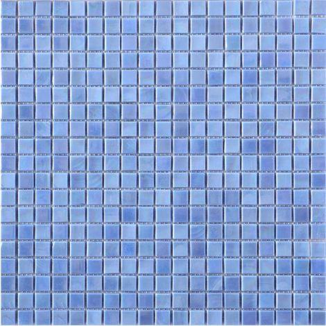 Glass Mosaic Tile Square Dazzling Blue 15x15mm