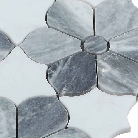 Marble Mosaic Tile Specialty Grey White Honed