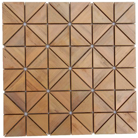 Copper Triangle Mosaic Tile Feature Wall Fireplace Decor
