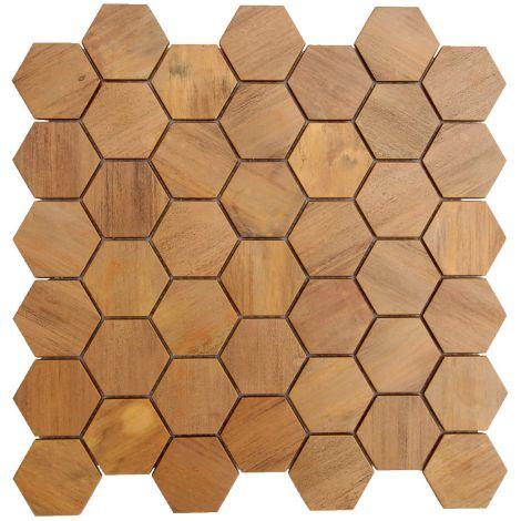 Copper Backsplash Mosaic Tile Feature Wall Fireplace Decor Big Hexagon