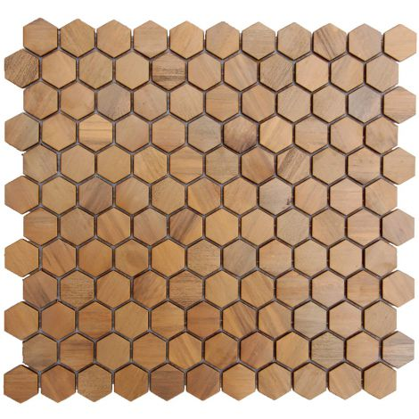 Copper Backsplash Mosaic Tile Feature Wall Fireplace Decor Small Hexagon