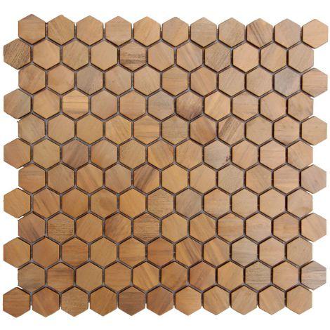 Copper Backsplash Mosaic Tile Feature Wall Fireplace Decor Small Hexagon
