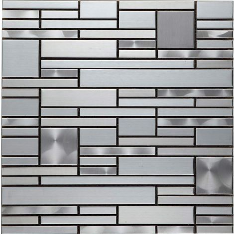 Stainless Steel Mosaic Tile Special Silver Draw