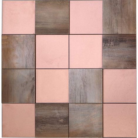 3D Mosaic Tile Copper Mix Stainless Steel Rose Gold And Bronze