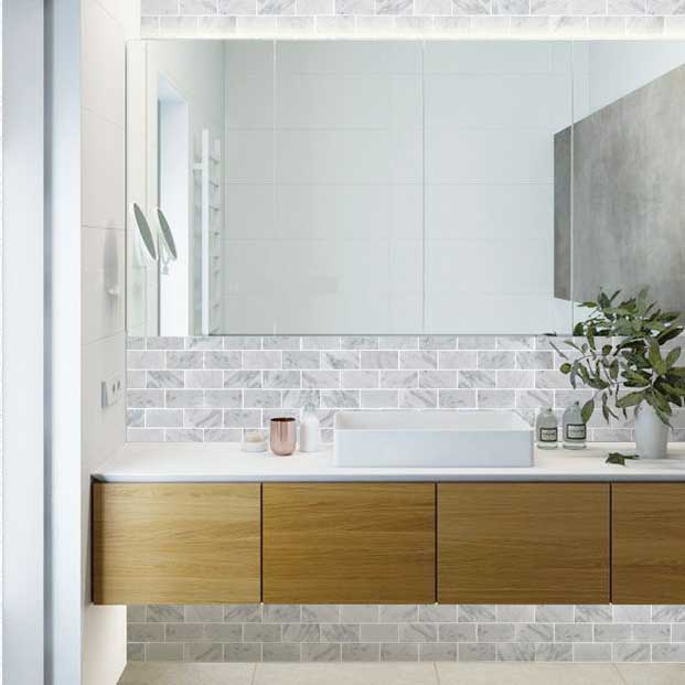 Natural Marble Stone Mosaic Tile Bath Wall And Floor