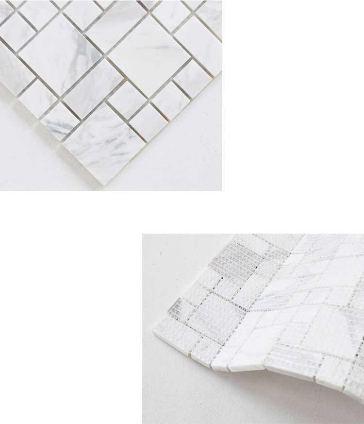 Jazz White Marble Stone Mosaic Tile Bath Wall And Floor